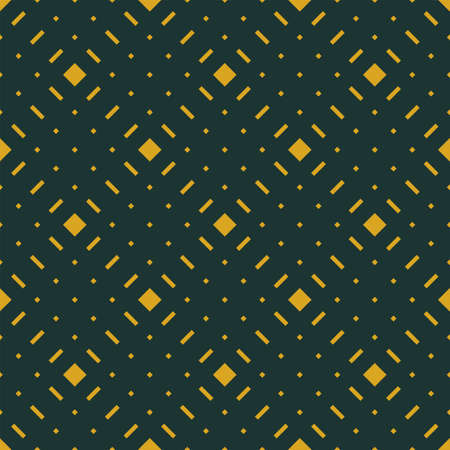 Geometric green and yellow seamless pattern with rhombs. Abstract vector diamond art. Colorful artistic illustration for fabric design, wallpaper, decorative paper, web design, background, poscard. Illustration
