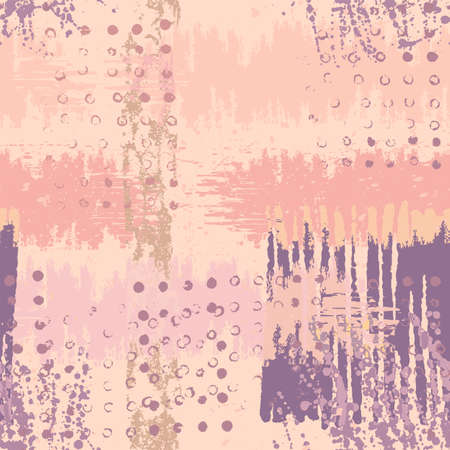 Bright artistic seamless pattern. Abstract vector handmade texture grunge. Pastel artistic illustration for fabric design, wallpaper, decorative paper, web design, background, postcard.