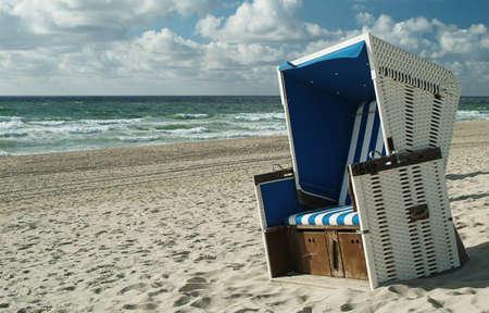 Beachchair on the island sylt, germany. Stock Photo - 601572