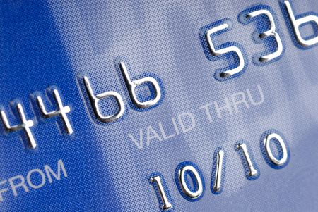 Part from a credit card. Stock Photo - 786553