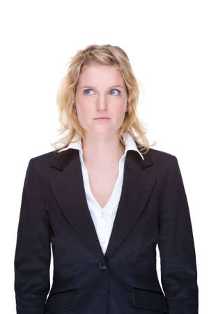 Full isolated portrait of a beautiful caucasian businesswoman photo