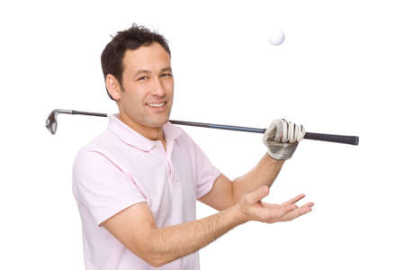 Full isolated studio picture from a golf player Stock Photo - 5899373