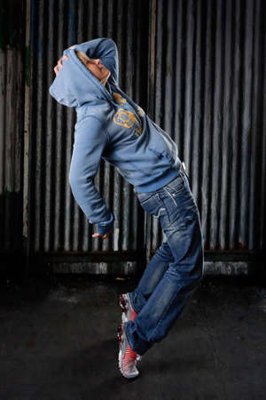 Hip Hop dancer on a street in the night photo