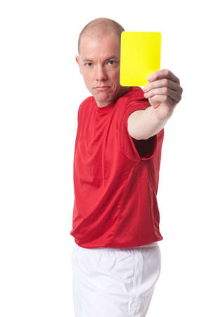 Full isolated studio picture from a young referee Stock Photo - 6745443