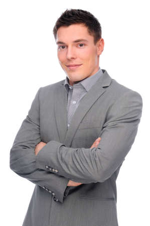 Full isolated studio picture from a young businessman Stock Photo - 7355763