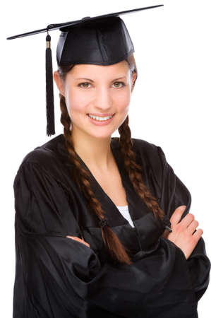 Full isolated studio picture from a young graduation woman Reklamní fotografie