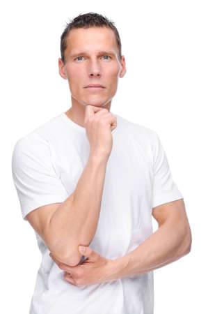 Full isolated portrait of a young man Stock Photo - 8228436