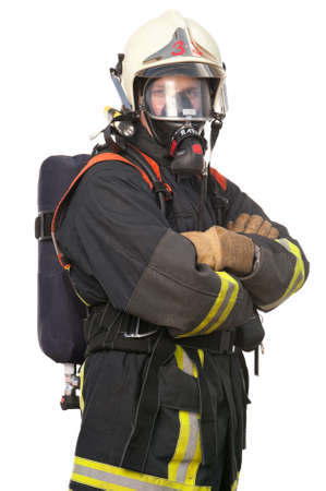 Picture from a young and successful firefighter at work Stock Photo - 9571478