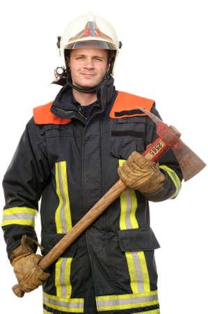 voiture de pompiers: Image à partir d'un pompier jeune et réussir au travail