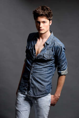 male: Young mal model posing in the studio