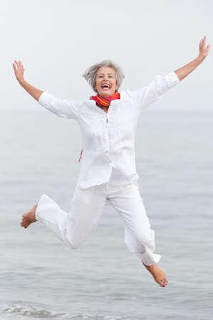 Active and happy senior woman Stock Photo - 10929395