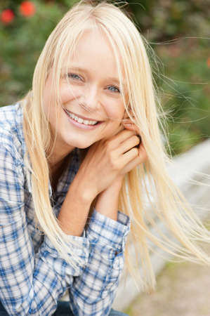 Portrait from a young and beautiful woman Stock Photo - 10929240