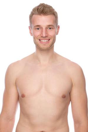 hombre desnudo: Panorama completo estudio aislado de un joven desnudo Foto de archivo