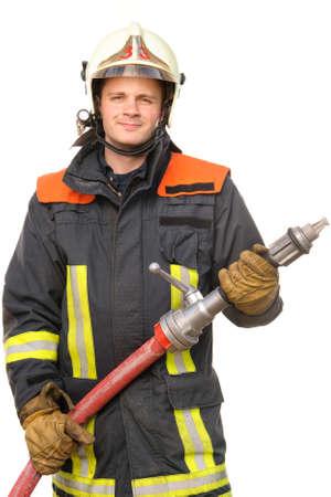 camion de pompier: Image à partir d'un pompier jeune et réussir au travail