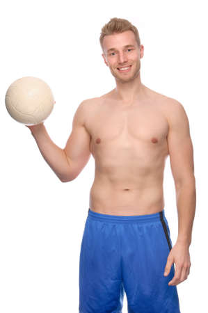 Full isolated studio picture from a young volleyball player photo