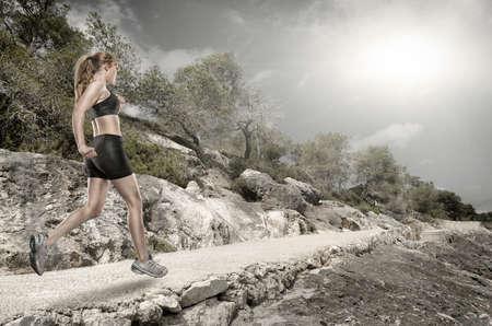 Correr en la naturaleza Foto de archivo