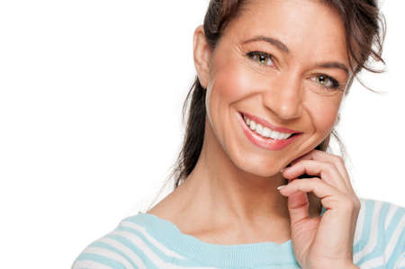 middle aged: Smiling middle aged woman Stock Photo