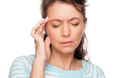 suffer: Woman with headache