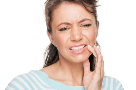 Woman with toothache photo