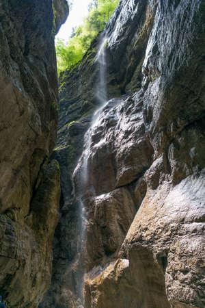 River Partnach in the Partnachklamm near Garmisch Partenkirchen Germany
