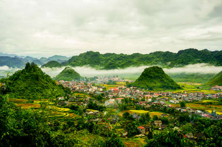 Co Tien moutain in Ha Giang province northern Vietnam Banque d'images