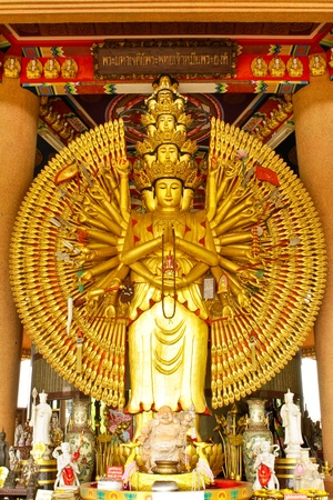 thousand hands buddha statue photo
