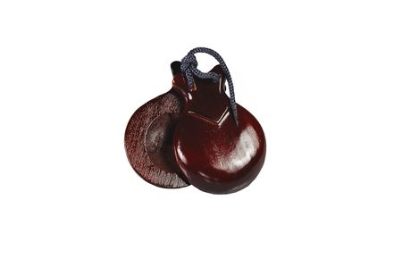 Castanets isolated on white