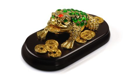 Symbol of Feng-Shui: Three-legged Toad (good fortune) Stock Photo
