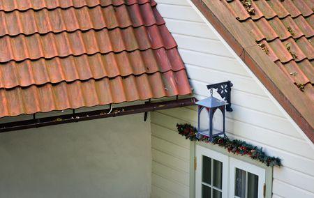 Cristmas lantern above the door