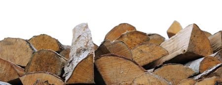 Fire wood isolated on white