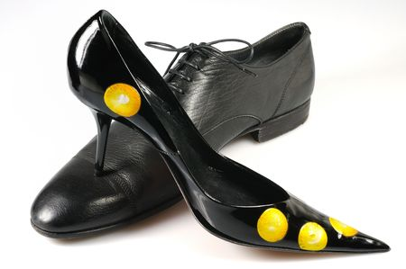 Woman classical shoe and men classical shoe