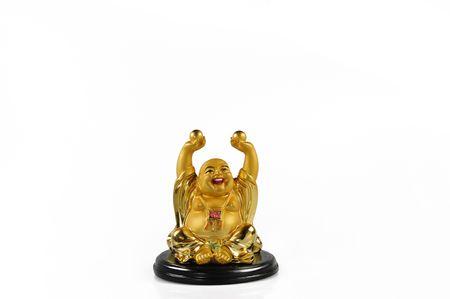 Figure of Budda isolated on white