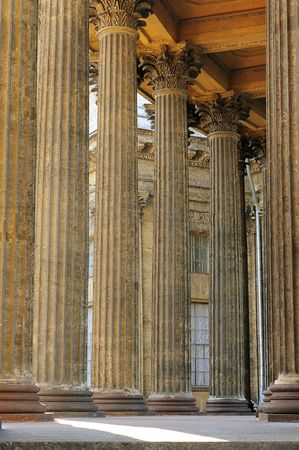Columns of the Kazan cathedral, Saint Petersburg, Russia