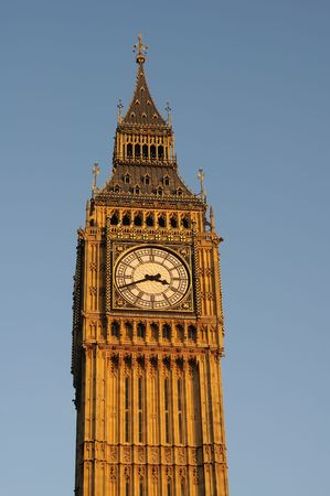 A clock tower was built at Westminster in 1288, with the fine-money of Ralph Hengham, Chief Justice of the Kings Bench Stock Photo