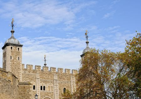 The Cradle Tower was built by Edward III as a private watergate to his lodgings and was later used as a prison. Stock Photo - 6007767