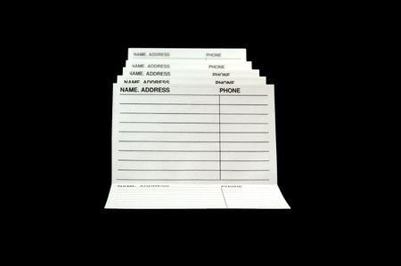 Address & Phone Book isolated on black