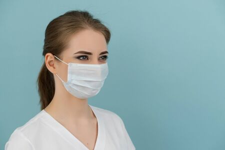 doctor or nurse in mask protection against coronavirus