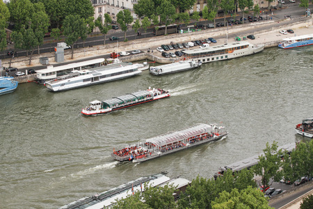 seine: The boat on seine river