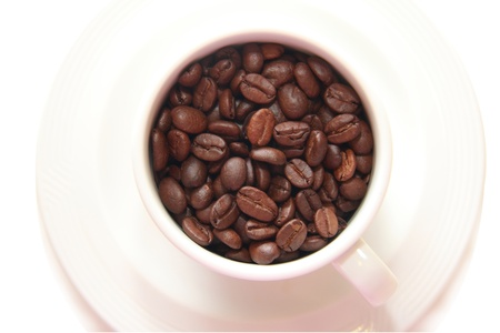 Cup of coffee bean photo