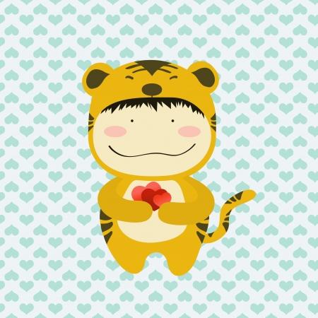 Petit tigre amoureux