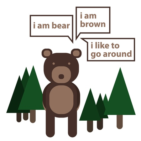 introducing: Introducing bear in the wood Illustration