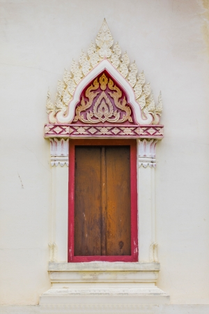 Thailand church windows photo
