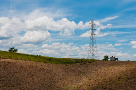 shanty: Transmission tower on mountain
