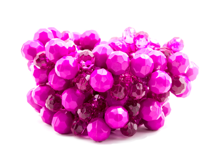 bead jewelry: purple plastic bead jewelry