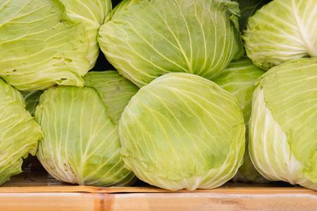 heap: Heap of green cabbage