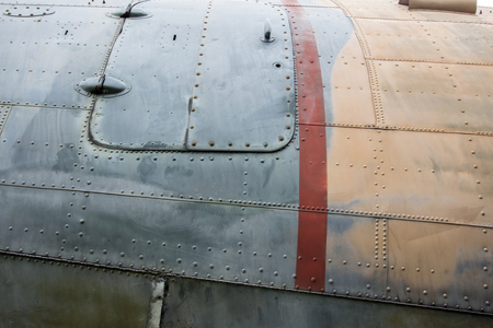 old plane: Dirty texture of old plane body Stock Photo