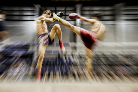 Muay Thai, Thailand boxing blur abstract background