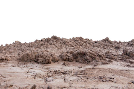 pile soil isolated on white background with clipping path