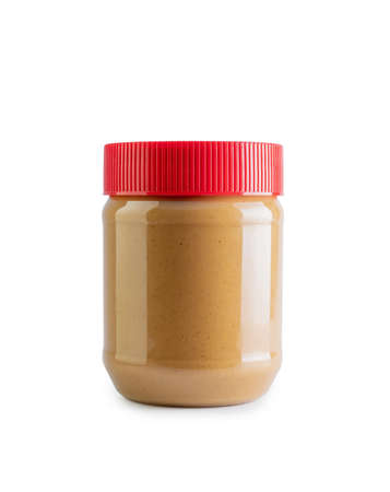 peanut butter jar mockup isolated on white background