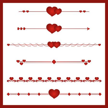 simbol: Border cuore vettore Simbol San Valentino. Confine.